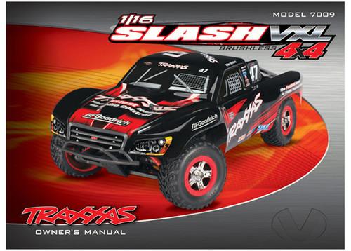 Owner's manual, 1/16 Slash 4WD VXL (model 7009)