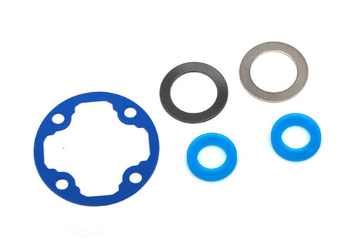 Differential gasket/ x-rings (2)/ 12.2x18x0.5 metal washer (1)/ 12.2x18x0.5 PTFE-coated washer (1)