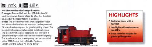 M36812  2007 (April) Digital DB AG cl 381 Locomotive with Storage Batteries - Di