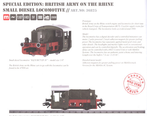 M36825  2008Q2 Digital British Army on the Rhine Royal Corps of Trans (RCT) Dies