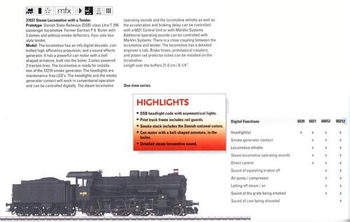 M37037  2007 (August) Digital DSB cl Litra T 299 Passenger Locomotive (E)  - Dis