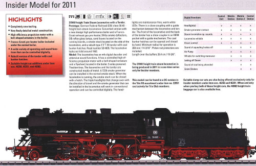 M37040  2011 Qtr.3 Marklin Insider Digital Cl.50.40 Franco Crosti Steam Locomoti