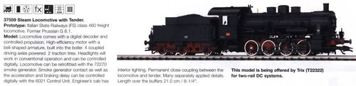 M37559  2004 Digital Steam Locomotive with Tender class 460 FS (E) - Discontinue