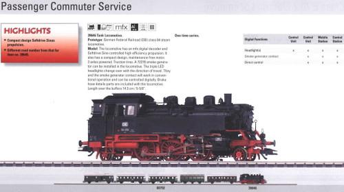 M39646  2010 Qtr.1 Digital DB class 64 Tank Locomotive (L) (HO Scale)
