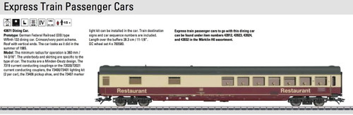 M43871  2014 DB type WRmh 132 Dining Car (HO Scale)