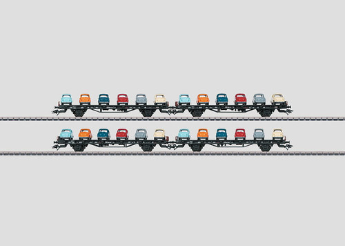 "M45098  2012 Qtr.1  DB ""Goggo"" Auto Transport 4-Car Set (6 Goggos per car) (EX)"