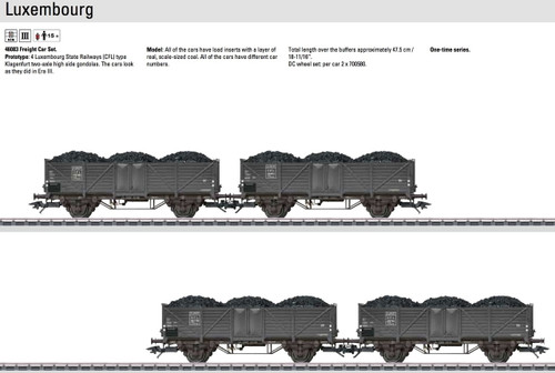 M46083  2014 CFL Freight 4-Car Set (HO Scale)