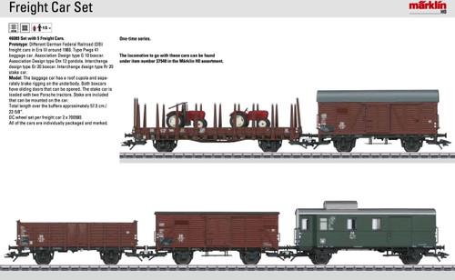 M46089  2014 DB Freight 5-Car Set (HO Scale)