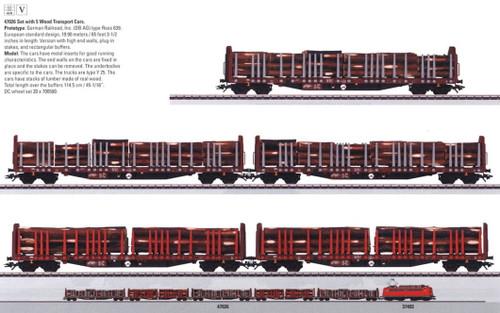 M47026  2010 Qtr.3 DB AG Wood Transport 5-Car Set (L) (HO Scale)
