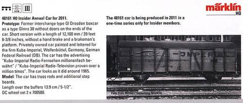 M48161  2011 HO Annual Insider Car
