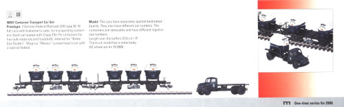 M48947  2008Q3 DB Birkel Eier-Nudeln Container 2-Car Set with Truck - Excl. 2/08