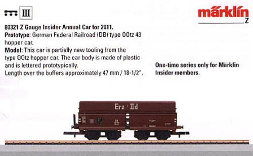 M80321  2011 Z Annual Insider Car