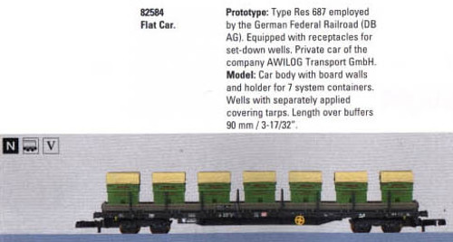 M82584  2005Q1 DB AG Flat Car with Load