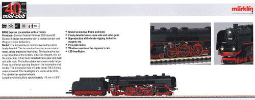 M88855  2012 Qtr.4 DB cl 03 Express Locomotive with Tender (Z Scale)