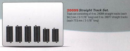 "W441-20099  3-Rail C Track - My World -- Straight Set w/4 #24094 3-11/16""  9.4cm"