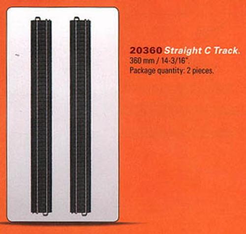 "W441-20360  3-Rail C-Track - My World -- Straight - 14-3/16""  36cm pkg(2)"