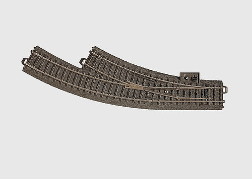 W441-24672  3-Rail C Track -- Right Hand Manual Curved Turnout