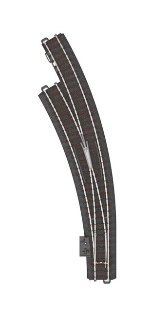 "W441-24771  C-Track -- Wide Radius Curved Turnout - 20 1/4"" 515mm - Left Hand"