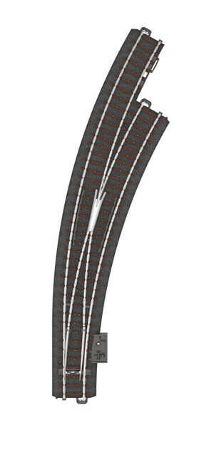 24772 C-Track -- Wide Radius Curved Turnout - 20 1/4' 515mm - Right Hand