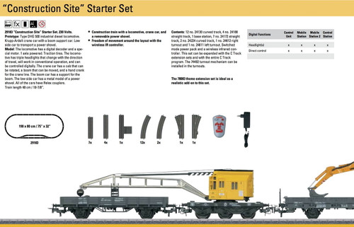W441-29183  Construction Starter Set w/Digital & Infrared Controller