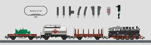 29322 Digital Freight Train Starter Set w/Passing Siding - 3-Rail -- German Federal Railway
