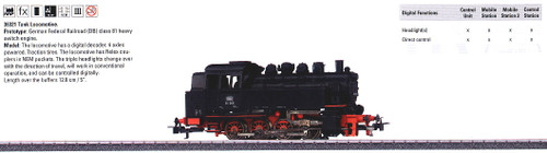 36321 Class 81 0-8-0T - 3-Rail w/Digital - My World -- German Federal Railroad DB (Era III, black, red)