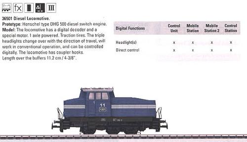 36501 Diesel Henschel DHG 500 Switcher - Digital Equipped -- #11 (blue, white)