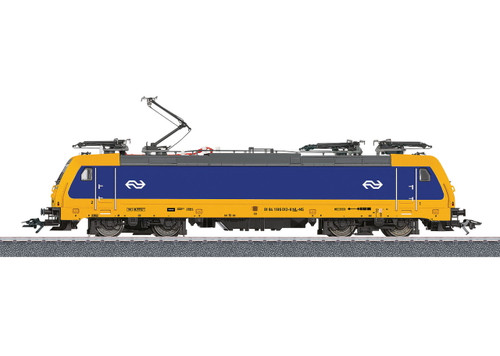 W441-36629  Class E 186 Electric - 3-Rail w/Sound & Digital -- Dutch Railways NS (Era VI 2017; blue, yellow)