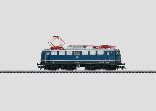 W441-37107  Class E 10.1 Electric - 3-Rail w/Sound & Digital -- German Federal Railroad DB (Era III 1964, Cobalt Blue, black)