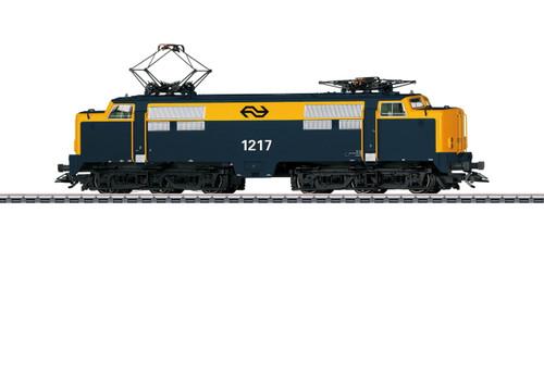 W441-37130  Class 1200 Electric - 3-Rail - Sound and Digital -- Dutch State Railways 1217 (Era V, blue, yellow)