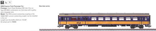 W441-42654  Era V Passenger Car 2nd Class LMTD -- NS Dutch State Railways