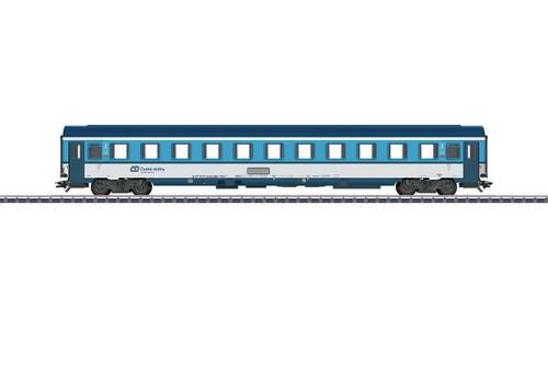 42746 Type Bmz 235 2nd Class Coach - 3-Rail - Ready to Run -- Czech Railways CD 2 (Era VI, blue, white)