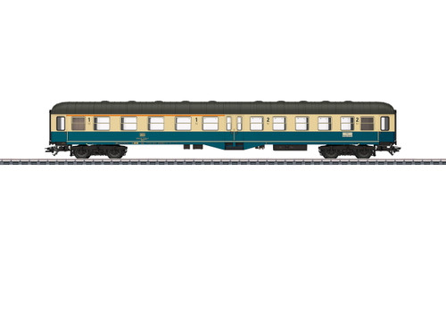 43125 Type ABylb 411 1st and 2nd Class Coach - 3-Rail - Ready to Run -- German Federal Railroad DB (Era IV 1984, ocean blue, ivory, gray)