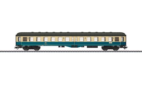 43165 Type Bylb 421 2nd Class Coach - 3-Rail - Ready to Run -- German Federal Railroad DB (Era IV 1984, ocean blue, ivory, gray)