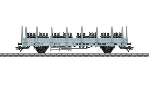 W441-46937  Type Ks Stake Car with Railroad Wheel Load - 3-Rail - Ready to Run -
