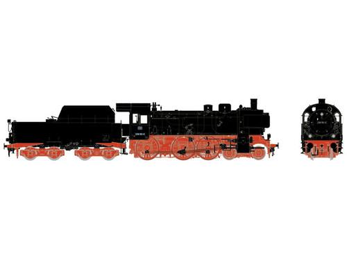 55385 Class 38.10-40 4-6-0 & Tub Style Tender w/Sound & DCC -- German Federal Railway (Era IV; black, red)
