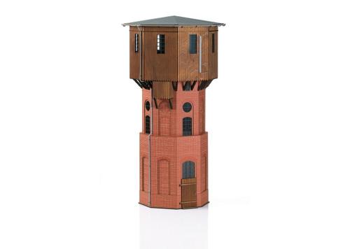 """56191 Prussian Standard Design Water Tower -- Laser-Cut Card Kit - 17-7/8 x 10 x 10""""  45.4 x 22.4 x 22.4cm"""