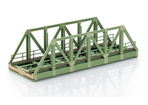 """56298 Single-Track Truss Railroad Bridge -- Laser-Cut Card Kit - 17-3/4 x 6 x 4-13/16""""  45 x 15.2 x 12.2cm"""