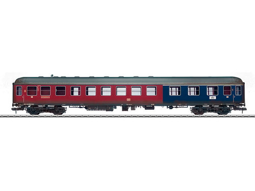 W441-58046  Type AR4um-54 Diner-Coach - Ready to Run -- German Federal Railroad DB #11 869 (Weathered, Era III, red, cobalt blue)