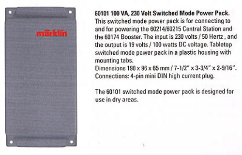 60101 Power Pack -- 100 VA, 230 Volt Switched Mode (For European Use Only)