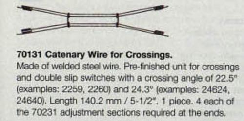 """W441-70131  Marklin HO Catenary -- Catenary Wire for Crossings   5-1/2"""" Length"""