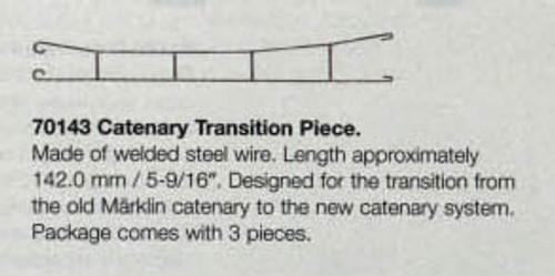 "70143 Marklin HO Catenary -- Catenary Transition Piece  Length 5-9/16""   Pkg(3)"