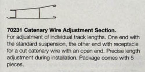 W441-70231  Marklin HO Catenary -- Catenary Wire Adjustment Section   Pkg(5)