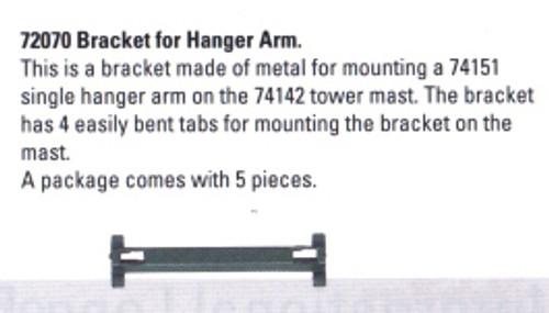 W441-72070  Bracket for Catenary Hanger Arm