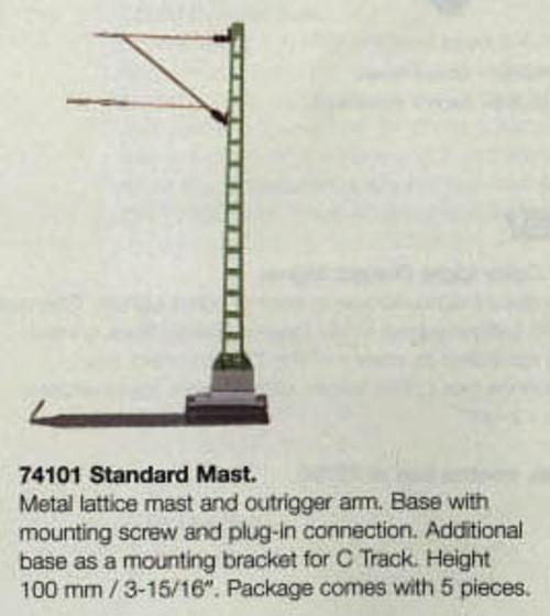 "W441-74101  Marklin HO Catenary -- Standard Mast  Height: 3-15/16""  Pkg(5)"