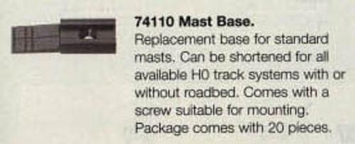 74110 Marklin HO Catenary -- Mast Base pkg(20)