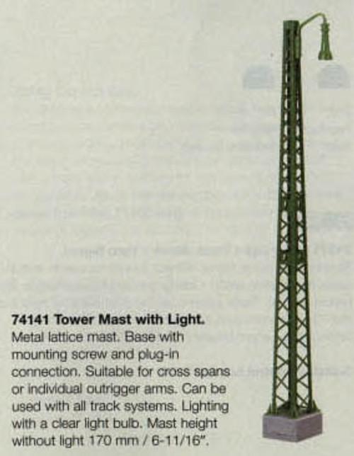 74141 Marklin HO Catenary -- Tower Mast with Light