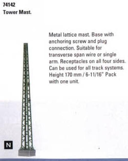 """74142 Marklin HO Catenary -- Tower Mast   Height: 6-11/16"""""""
