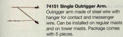 W441-74151  Marklin HO Catenary -- Single Outrigger Arm  Pkg(5)
