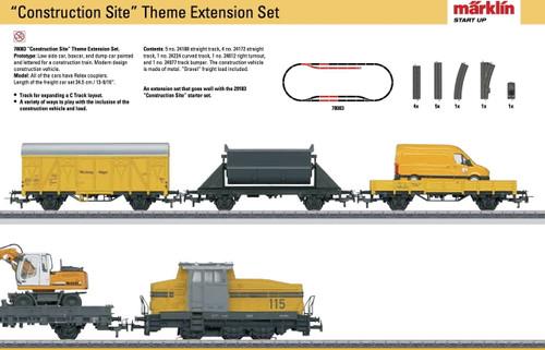 78083 Construction Site Extension Set - 3-Rail - Ready to Run - My World -- Construction Train (yellow, black)